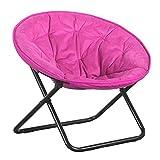 SCDMY Faltbare Stahlrahmen weich und breite Sitzuntertasse Großer Klappstuhl mit Kissen Fernsehen Lese Mittagspause im Freien Spielraum