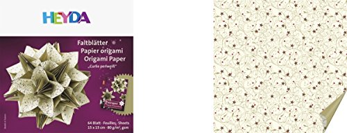 HEYDA Origami Faltblätter Papier Origami Curlie perlweiß
