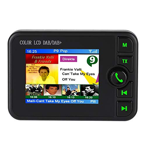 Vipxyc Adaptador de Coche Dab, Adopción de decodificación Dab, Llamada Manos Libres Bluetooth, Antena Activa de Alta sensibilidad