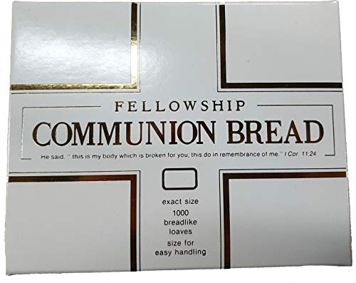 Fellowship Communion Bread 1000 Count Breadlike Loaves Sized