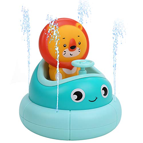 GearRoot Bath Toys for Baby Toddler, Fountain Bathtub Toy, Bath Tub Bathtime Pool Water Toys for Kids Boys and Girls (Blue)
