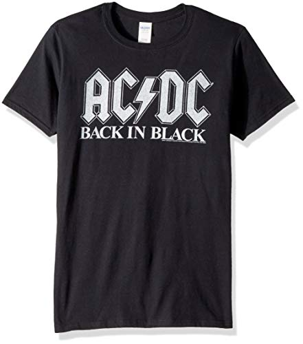 ACDC Back in Black Album Adult Short Sleeve T-Shirt,Camisetas y Tops(XX-Large)