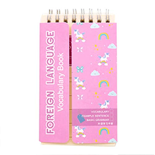 Jessicadaphne Kreative English Word Buch der Spulen mit Shelter Vocabulary Notebook Wort Tagebuch Notepad Hand Notizbuch Studenten Briefpapier