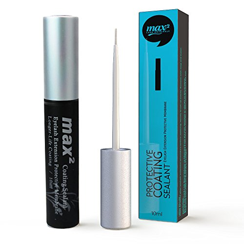 Eyelash Extensions Max2 Clear Coating Sealant To Extend Longer Lash Extensions (Black)