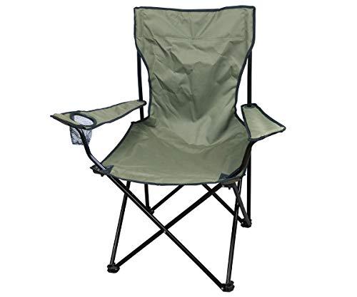 Commando Industries Chaise Pliante d'extérieur avec Dossier et Porte-Bouteilles (Olive)