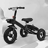Triciclo Evolutivo Toral Triciclo para niños con pedal, bicicleta de entrenamiento al aire libre ajustable al aire libre, para niños de 2 a 5 años, niñas, regalo de cumpleaños, 2 en 1 Bicicleta de bal