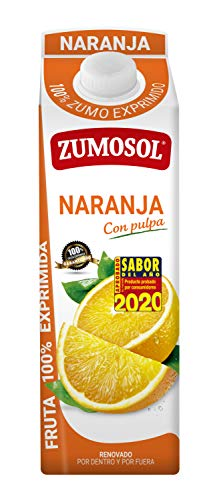 Zumosol Zumo Exprimido 00% De Con Pulpa L, Naranja