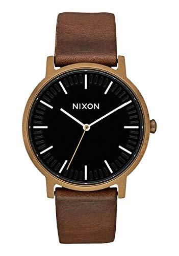 Nixon Reloj Analógico para Unisex Adultos de Cuarzo con Correa en Cuero A10583053-00