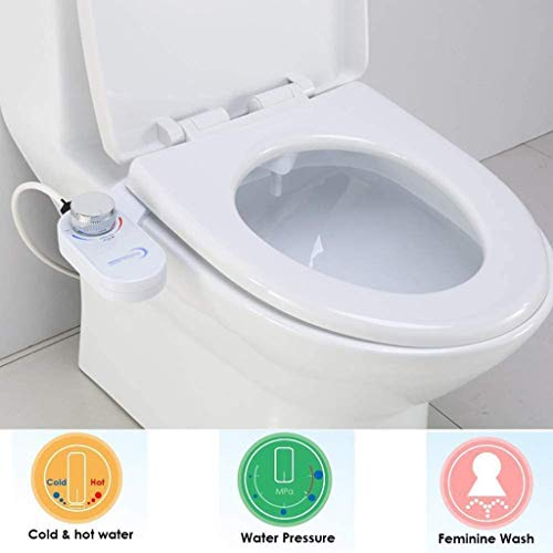 LIFERRI Bidet Flushing Sanitary Device,Self-Cleaning Nozzle, Smart Toilet Seat Intelligent Toilet Flushing Sanitary Device, Bidet Toilet Attachment, Reduce Toilet Paper (A)