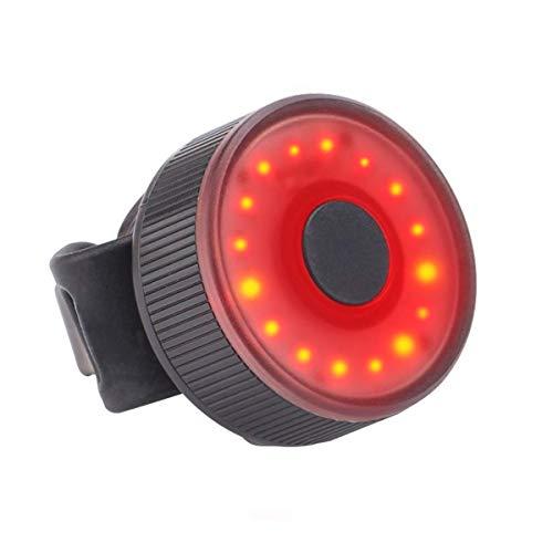 Luces de Bicicleta LED Recargables por USB,Luz Trasera Bici Compacta LED USB Recargable,Impermeable,Advertencia,3 Modos, Luz Trasera (1PCS)