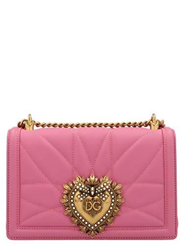 Luxury Fashion | Dolce E Gabbana Dames BB6652AV96786163 Roze Leer Schoudertassen | Lente-zomer 20