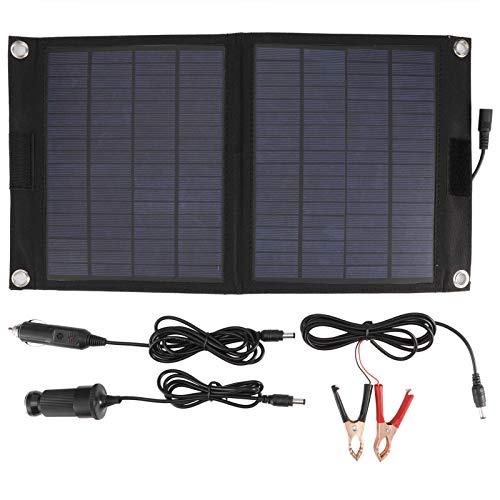 BHDD Cargador de Panel Solar Plegable de 12 vatios, Cargador de batería Solar portátil Integrado en el Puerto USB, Cargador Solar de Camping para Acampar al Aire Libre, Coche, Caravana, Barco, etc.