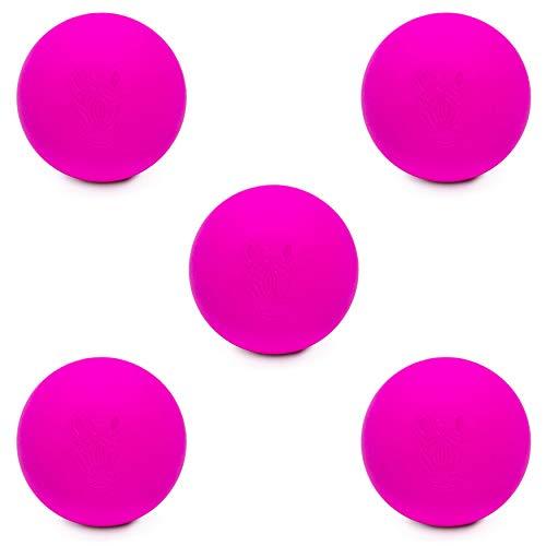 #DoYourFitness® Lacrosseball/Massageball ca. 6cm Ø mit Tiermotiven - idealer Faszienball/Triggerpunkt-Ball zur Anwendung am Rücken & Muskulatur - Steigerung der Regeneration/Mobilität Zebra