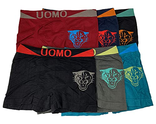 Laake Jungen Unterhosen Kinder Unterwäsche Microfaser Retro-Pants Boxer Shorts Uomo Sportwäsche 6 Stück (152-164, Tiger-J09)
