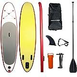Tabla de paddle surf inflable,Tabla SUP Hinchable,Con Pala Ajustable, Mochila, Bomba De Mano, Kit De Reparación, Para Jóvenes Adultos, Pesca, Yoga (6 Pulgadas Grosor) ( Size : 305*71*15cm )