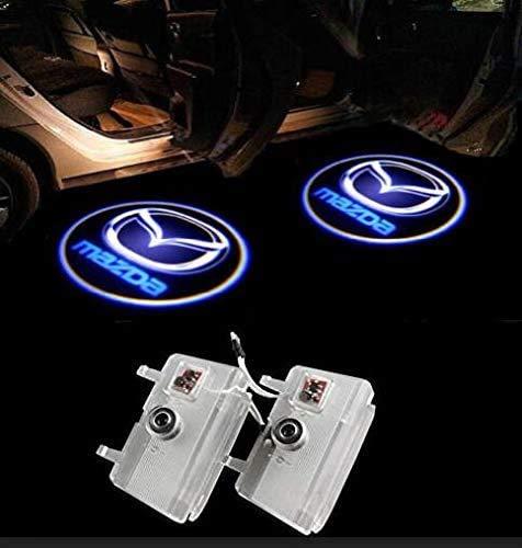 Duleutgnu 2 Stück Einstiegsbeleuchtung Türbeleuchtung Autotür Logo Türen Projektion Einstiegsleuchte Willkommen Dekorative Geist Lampe 3D Emblem (B)