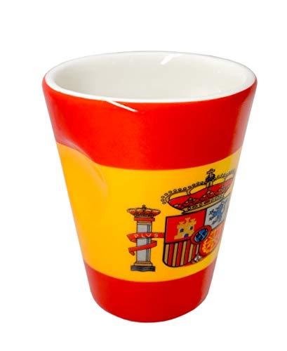 Taza de porcelana para expreso diseño bandera España