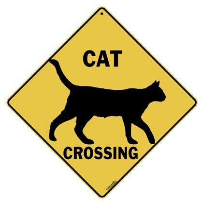 CROSSWALKS Cat Silhouette Crossing 12