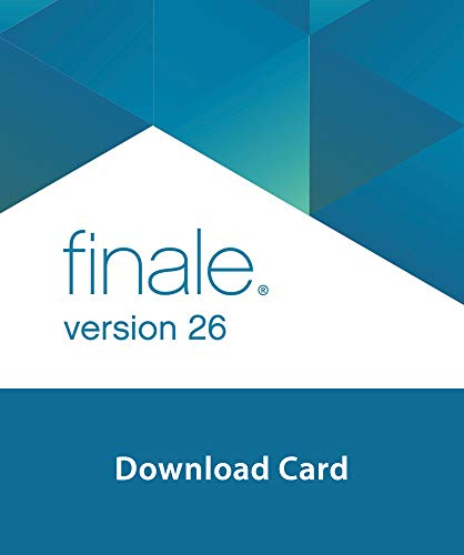 Makemusic Finale 26 Music Notation Software Download Card