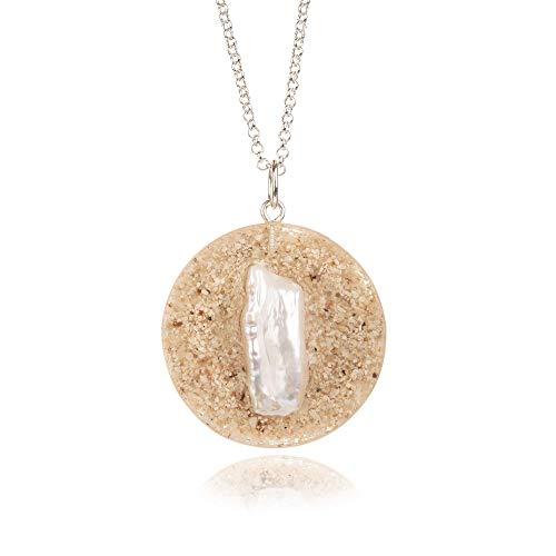 Inci- Collar de arena de playa de Hawái y perlas Keshi   Collar de perlas barroco moderno  ...