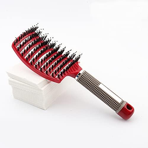PPuujia Cepillo de champú 2020 Cepillo de pelo Magic Peine Desenvolver cepillo de pelo Detalle piojos Peine de masaje para mujer Cepillo para el cabello Cepillo para el salón (Color: Rojo)