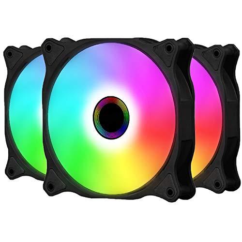 Gegong RXF120 ARGB - Ventilador de carcasa de 5 V ARGB direccionable placa base SYNC 16,7 millones de colores, 8 ledes direccionables,...