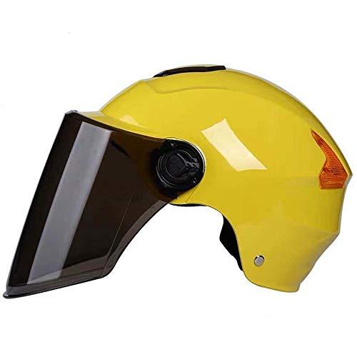 ZYW Motorradhelm Brille Halbschalenhelm Elektroauto Helm Männer Und Frauen Sonnenschutz Vier Jahreszeiten Universal-Außenreithalbschalenhelm Helm,Chrome