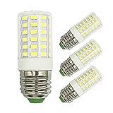 E26 Refrigerator Kitchen Hall LED Light Bulbs 100W - 60W Halogen Equivalent Daylight White 6000K 1000Lm 7W AC 100-265V Fridge Freezers Medium Screw Base Non-Dimmable No Flicker Bulb (Pack of 3)