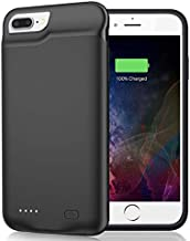 Battery Case for iPhone 8 Plus/7 Plus/6 Plus/6s Plus, 6500mAh Portable Rechargeable Battery Pack Charging Case Made for iPhone 6s Plus/6 Plus/7 Plus/8 Plus (5.5 inch) External Charger Case-Black