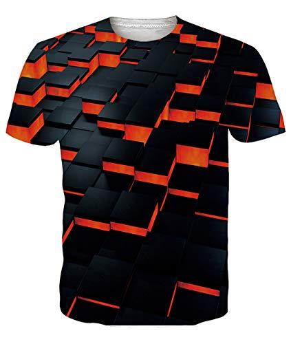 Fanient Camisa de Manga Corta de los Hombres patrón Impreso