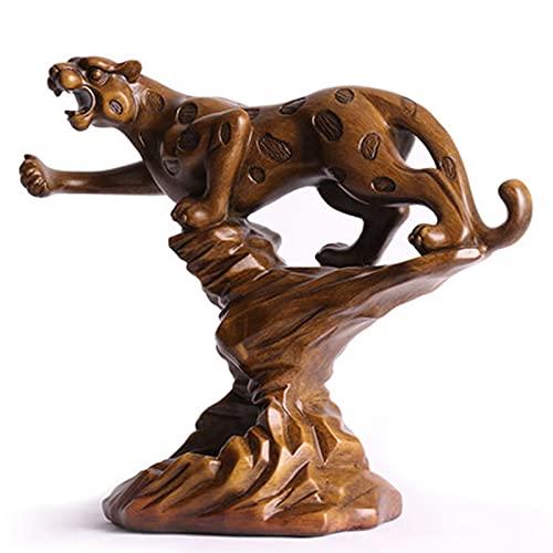 Estante de vino independiente con forma de vino con forma de leopardo Estante de vino Tiger madera de grano de grano de color resina Escultura Artesanía Regalos para decoraciones para el hogar Interne
