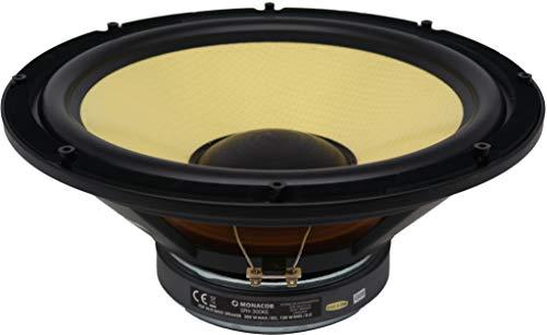 Monacor SPH-300KE Subwoofer Komponente 200W schwarz/gelb