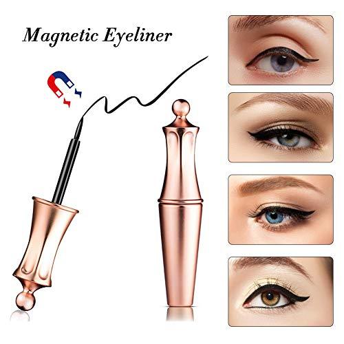 Pestañas magnéticas, delineador de ojos a prueba de agua magnético Impermeable Lápiz delineador de ojos líquido de larga duración Lápiz delineador de ojos especial para uso Pestañas falsas magnéticas