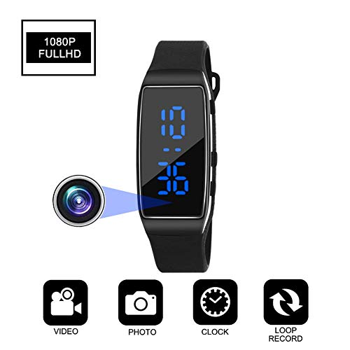 HD Wearable Bracelet Hidden Spy Camera Small Security Camera with Loop...