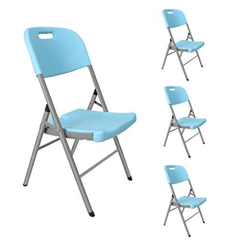 YPEZ Party-Ereignis Einzel Chair (Save Raum Gemütlich und schön Klappstuhl), bequemen Sessel for Besprechungszimmer, Parties, Kaffeehäuser, Restaurants Blau (Größe : 4pack)
