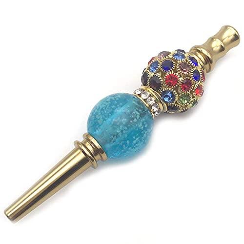 N\C La Boca de la cachimba inclina la Boca Colorida de la cachimba con Cuentas de aleación de Diamantes de imitación de Metal con Luminoso, E LKWK