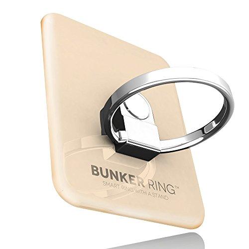 BUNKER RING 3 (全5色) バンカーリング iPhone/iPad/iPod/Galaxy/Xperia/スマートフォン・タブレットPCを指1本で保持・落下防止・スタンド機能(ゴールド)