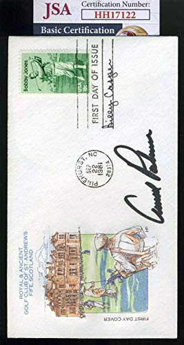 Arnold Palmer JSA Coa Hand Signed 1981 FDC Cache Autograph - Golf Cut Signatures