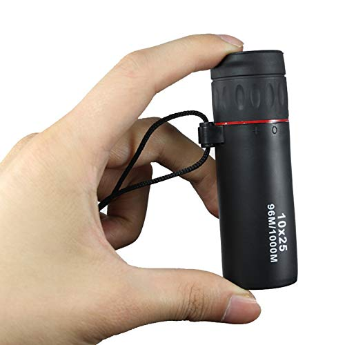 TOOGOO 10X25 Hd Monokular Professionelles Teleskop Fokus Gruener Film Taschen Fernglas
