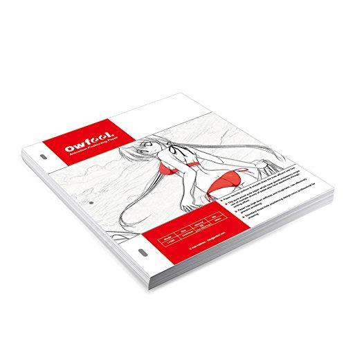 Owfeel RèGle En Plastique Avec 3 Broches Pour Papier Perforé SpéCial Dessin D'Animation Blanc Animation Paper Blanc