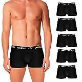 Umbro Set de 5 boxers (5NEGROS) -100% algodón-color negro(x5) Bóxer, PACK 05 T040-1, L Hombre