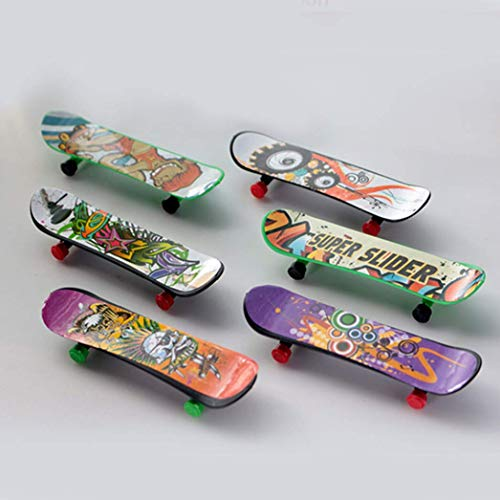Aohua Robust 1pcs Mini Finger Skateboard Fingerboard Mini Skate Plastik Stents Peeling Finger Scooter Skate Boarding Spiel Spielzeug - Farbe Zufällig