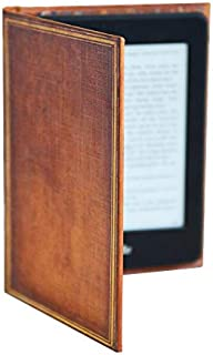 Kindle Case with Foldback Classic Book Cover (My Book) (Tan Brown My Book)