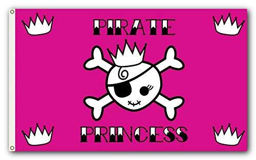 Outdoor Flag - Large 3' x 5', 2-Sided Weather-Resistant Polyester Pirate Princess