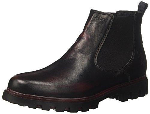 U.S.POLO ASSN. Damskie buty wiosenne Chelsea, Brązowy ciemnoszary bordowy Dkgr Bor - 36.5/37 EU