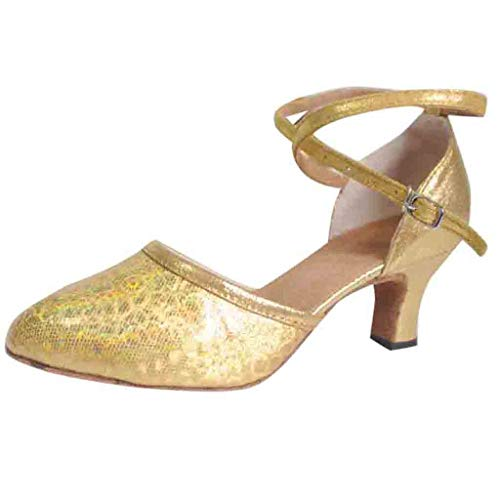 Holywin Women'S Shining Ballroom Tango Latin Salsa Dancing Shoes Sequins Shoes Social Dance Shoes