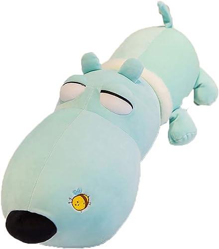 GJF Papa Hund Plüschtier Weiß nach unten Baumwolle Puppy Puppe Kissen Kind Puppe mädchen Geschenk (Größe   90cm1.5kg)