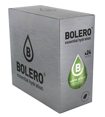 Bolero Bebida Instantánea sin Azúcar, Sabor Uva Blanca - Paquete de 24 x 9 gr - Total: 216 gr