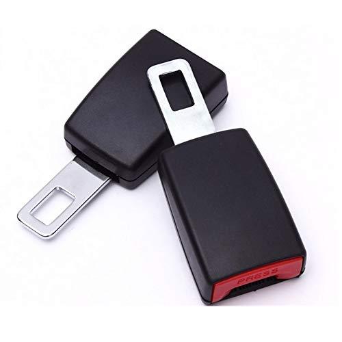 """Hebillas de coche universales - 2 piezas (lengüeta de metal de 7/8"""") Hebillas de extensión de coche con certificación de seguridad Tapones de alarma para coche"""