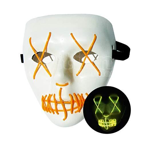 Mascara De Terror Led Com Pilhas